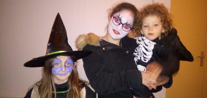 Les enfants sont maquillés !!