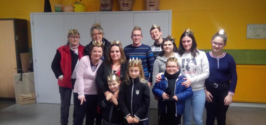 Les rois et reines victorieux de la soirée des vœux de l'association